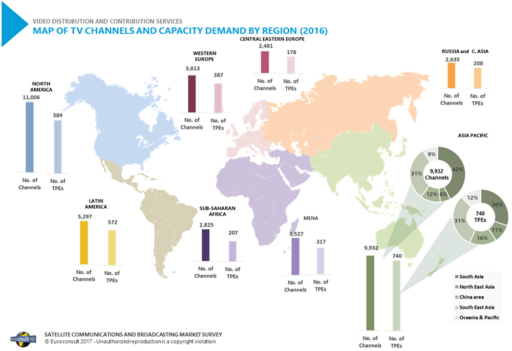 Map Of Asia Via Satellite.2018 Issue Three Apscc